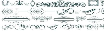 ornaments labels and frames font free truetype