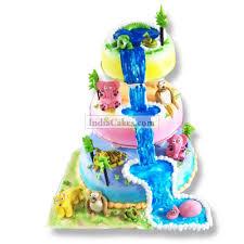 jungle theme cake order fondant jungle theme three tier cake 3 kg indiacakes