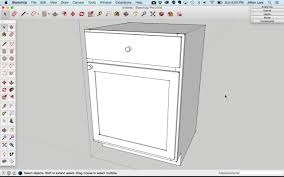 Sketchup Kitchen Design How To Draw A Basic Kitchen Cabinet In Sketchup Design Student Savvy