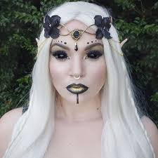 Elven Halloween Costume Black Gold Elf Makeup Costume Halloween Recipes Ideas