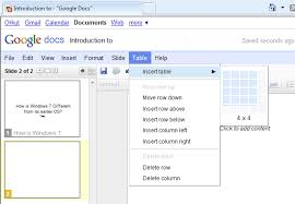 Google Docs Table How To Create An Online Powerpoint Presentation With Google Docs