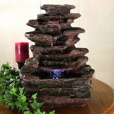 Lighted Water Fountains Outdoor by Bring The Outdoors Indoors With A Faux Rock Water Fountain