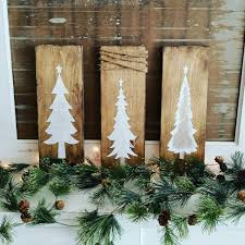 wooden christmas tree signs set of 3 christmas signs wooden