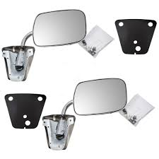amazon com pair of manual side view stainless steel mirrors