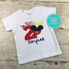 mickey mouse birthday shirt i m twoddles mickey mouse birthday shirt for boys