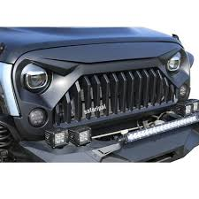 jeep wrangler front grill wrangler gladiator angry front grille grill for 2007 2017 jeep