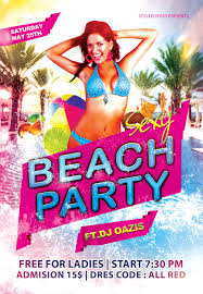 pool party flyer template by styleflyers on deviantart