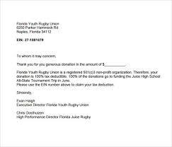 charitable acknowledgement letter requirements letter idea 2018