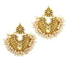 designer earrings ramleela designer gold plated premium