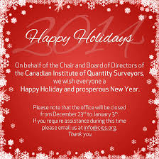 happy holidays from the ciqs