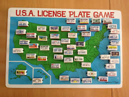 License Plate Usa Map by Amazoncom Melissa Doug Flip To Win Travel License Plate Game