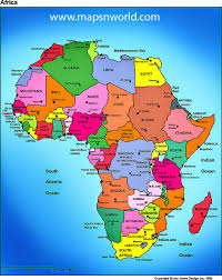 Africa Map With Countries by Map Of Africa 54 Countries Deboomfotografie