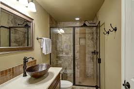 bathroom finishing ideas finished bathroom ideas redoubtable how to build basement bathroom