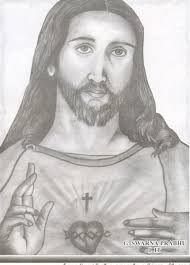 the face of god jesus christ picture pencil sketching passion of