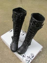 womens leather motorcycle boots canada free ship brand flat high motorcycle boots lace up