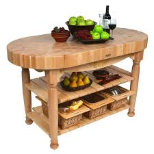kitchen islands u0026 tables oval maple top kitchen island with