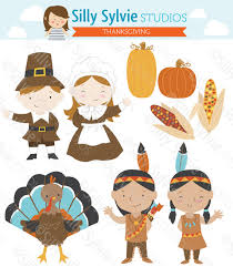 thanksgiving clip pilgrims turkey american indians