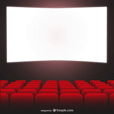 movie theater red seats and cimena screen vector free download