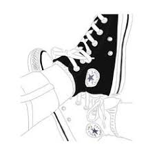 art converse drawing we heart it featuring polyvore fashion