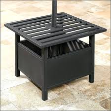 Patio Umbrella Stand Side Table Umbrella Stand Table Home Design Ideas And Pictures