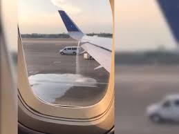united flight was canceled after a passenger spotted a fuel leak