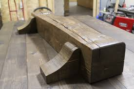 custom barn beam mantel with corbels rebarn toronto sliding