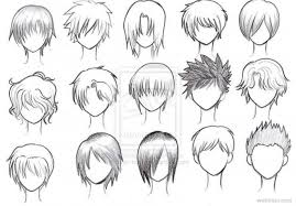 coloring page amazing how to draw a anime 20 male hair preview