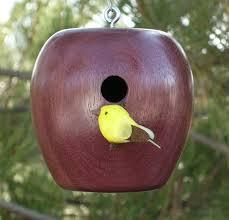 small birdhouse christmas ornament wooden apple home decor wood