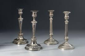 candelieri in argento coppia di candelieri in argento cm 28 h ognuno peso gr 400
