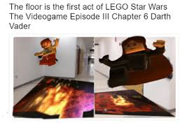 Lego Star Wars Meme - the floor collapsing into lava lego know your meme
