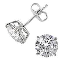 earring stud bodyjewels cubic zirconia economy stud earrings in 14kt dk stud