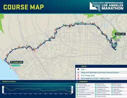 Traffic Map Los Angeles by From The Stadium To The Sea La Marathon