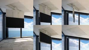 tv a soffitto tv moving chrst staffa tv motorizzata da soffitto per tv