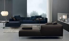canape angle bleu design interieur canapé angle bleu cuir marron tapis blanc