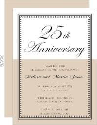 25th wedding anniversary invitations cheap 25th anniversary invitations invite shop