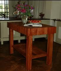 zambezi hardwood butcher block table
