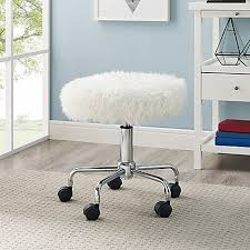 Fuzzy White Chair College Dorm Room Desks U0026 Desk Chairs Bed Bath U0026 Beyond