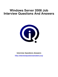windows server 2008 interview questions answers guide pdf domain