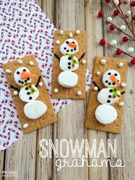 snowman grahams holiday kids food craft