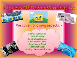 Driving Background Check Driver Background Check Services In India