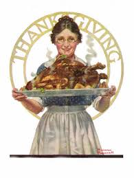 norman rockwell thanksgiving muddy colors