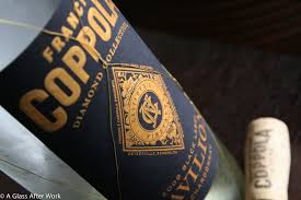 francis coppola claret celebrating three years with a coppola chard a glass after work