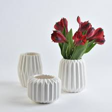 Vase Trio Mca Chicago Store Fluted Vase Trio
