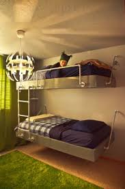 Suspended Bunk Beds Hanging By Room For Shared Teen Room House - Suspended bunk beds