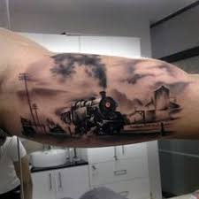 40 awesome steam train tattoo images ink pinterest train