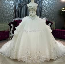 lovely decoration ball gown wedding dresses with bling ball dress