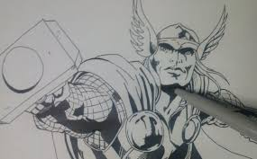 how to draw thor marvel comic the avenger age of ultron youtube