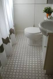 White Tile Bathroom Floor by Gray Penny Round Flooring Beautiful Ideas For Mom U0027s Bathroom