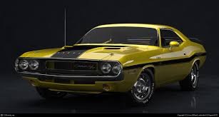 Dodge Challenger 1970 - 1970 dodge challenger front by lionel billault 3d cgsociety