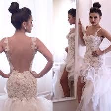 high low wedding dresses backless bridal dresses 2015 short front